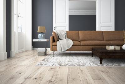 Holzfussboden im Wohnzimmer