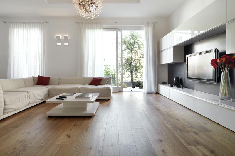 Parkettboden im Wohnzimmer