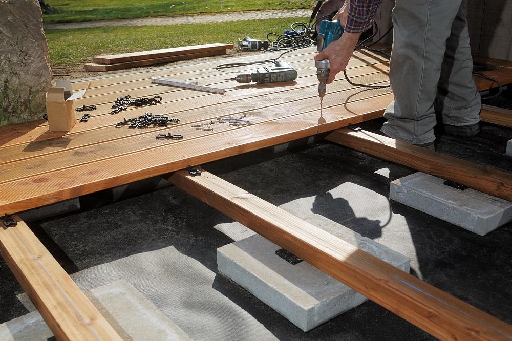 Bau einer Terrassenunterkonstruktion