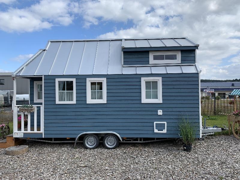 tiny house blau