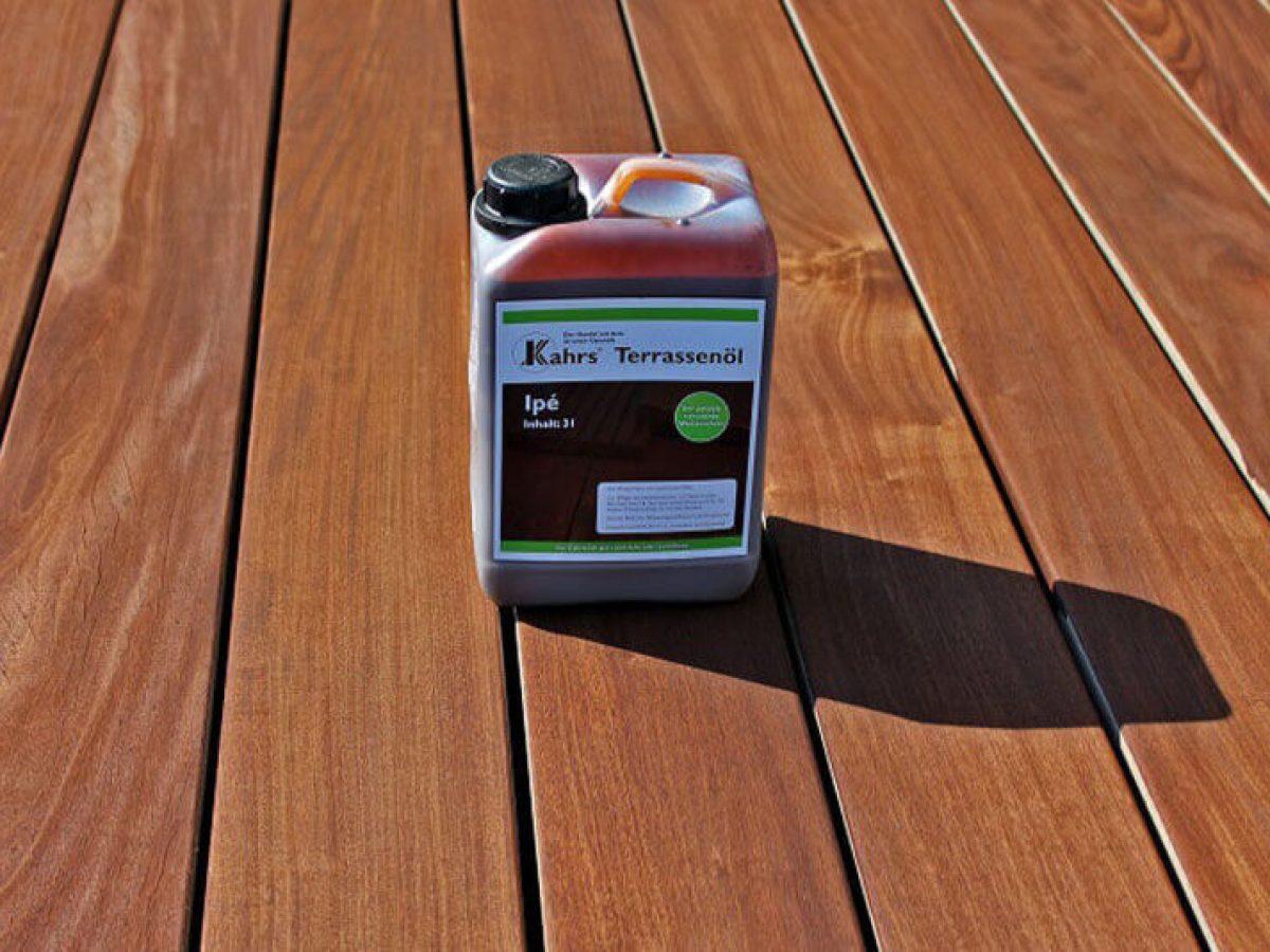 Holzterrasse richtig reinigen, pflegen und ölen   HOLZwelten