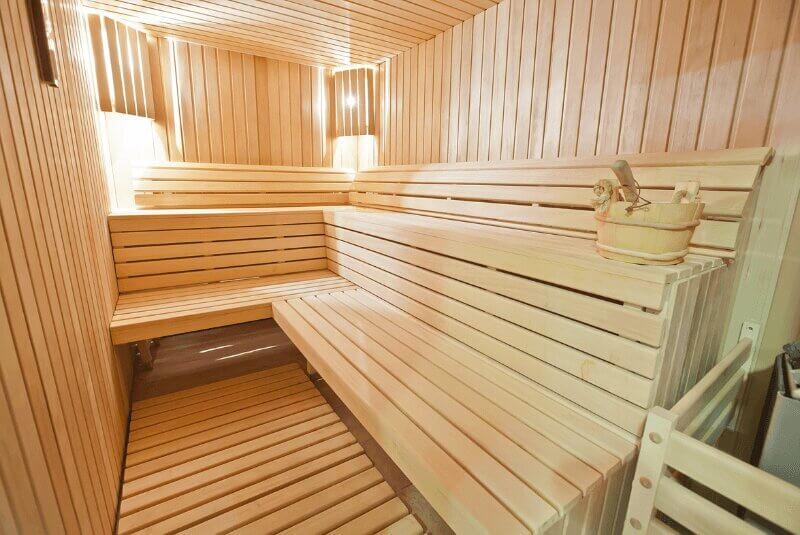Sauna aus Holz