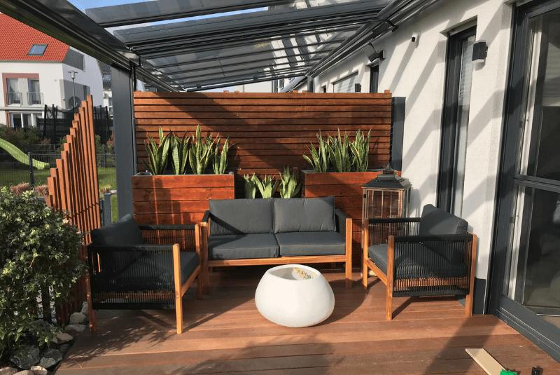 Terrasse mit Terrassenüberdachung